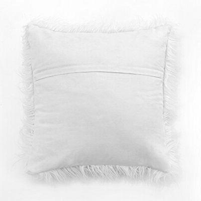 MIULEE of 2 Decorative Style White Fur Throw