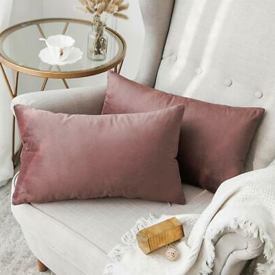 pack of 2 decorative velvet pillow covers