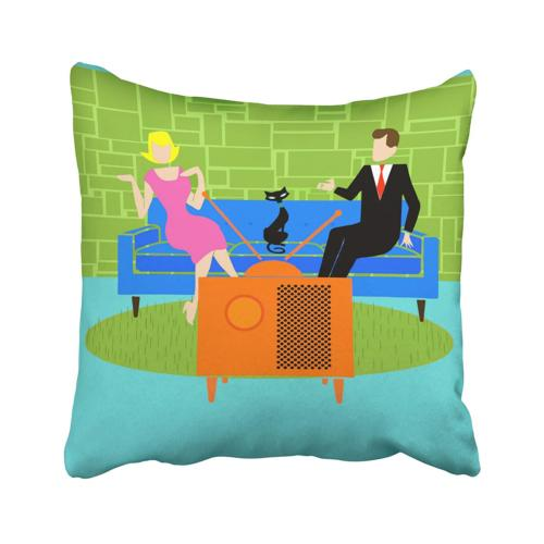 Pakaku Throw Pillows Covers for Couch/Bed 18 x 18 inch,Retro