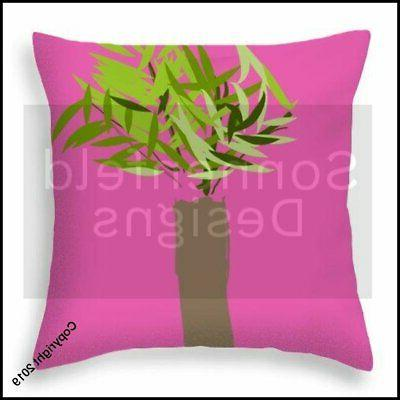 Palm Tree By Shelby - Throw Pillow