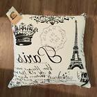 "Paris, Eiffel Tower Cushion Cover 18"" x 18"" 100% Cotton Deco"