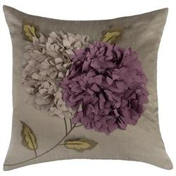Rizzy Home Pillow Cover With Hidden Zipper In Gray And Purpl