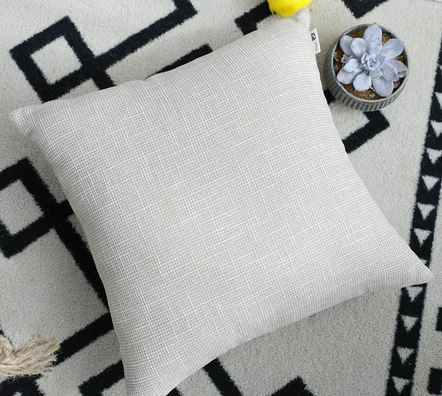 pillow covers decorative lined 24 x 24