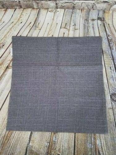 Kevin Pillow Throw Gray/Brown NWOT