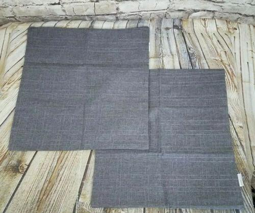 pillow covers throw set of 2 gray