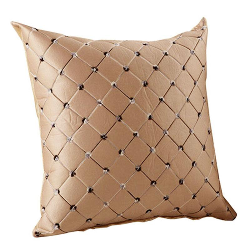 Solid Cloth Cushion Cover Car Bedroom