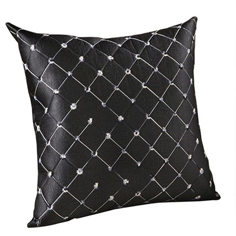 Solid Pillow Case Cloth Cushion Cover Home Bedroom