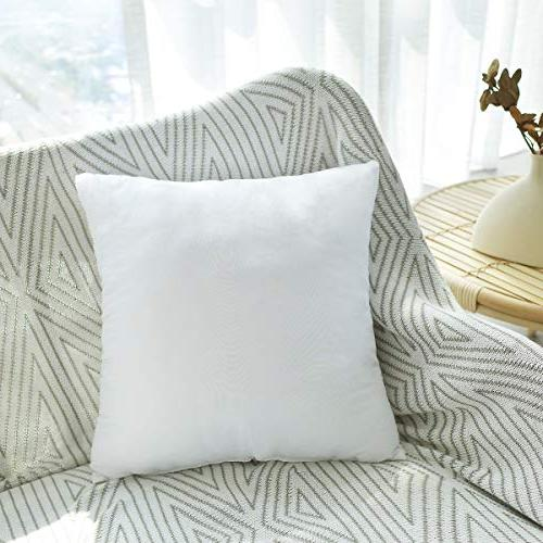 HIPPIH 2 x Pillow Hypoallergenic Square Form Insert with Zips, White