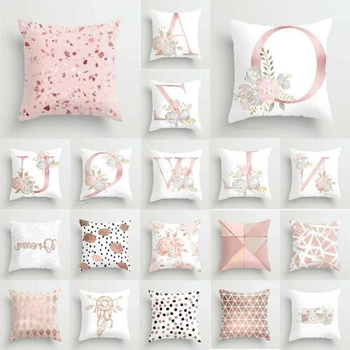 Pillow Car Letter Case Print Pink Decoration Throw Cover Cus