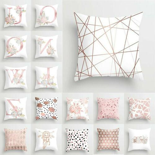 Print Pink Decoration Cover Pillowcase Home