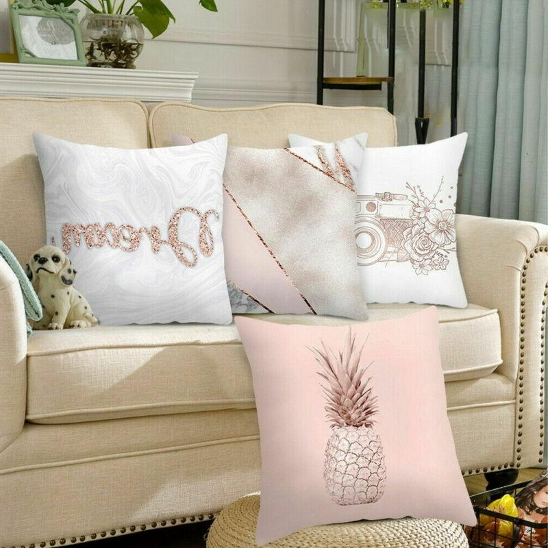 Pink Print Pillow Case Pillowcase