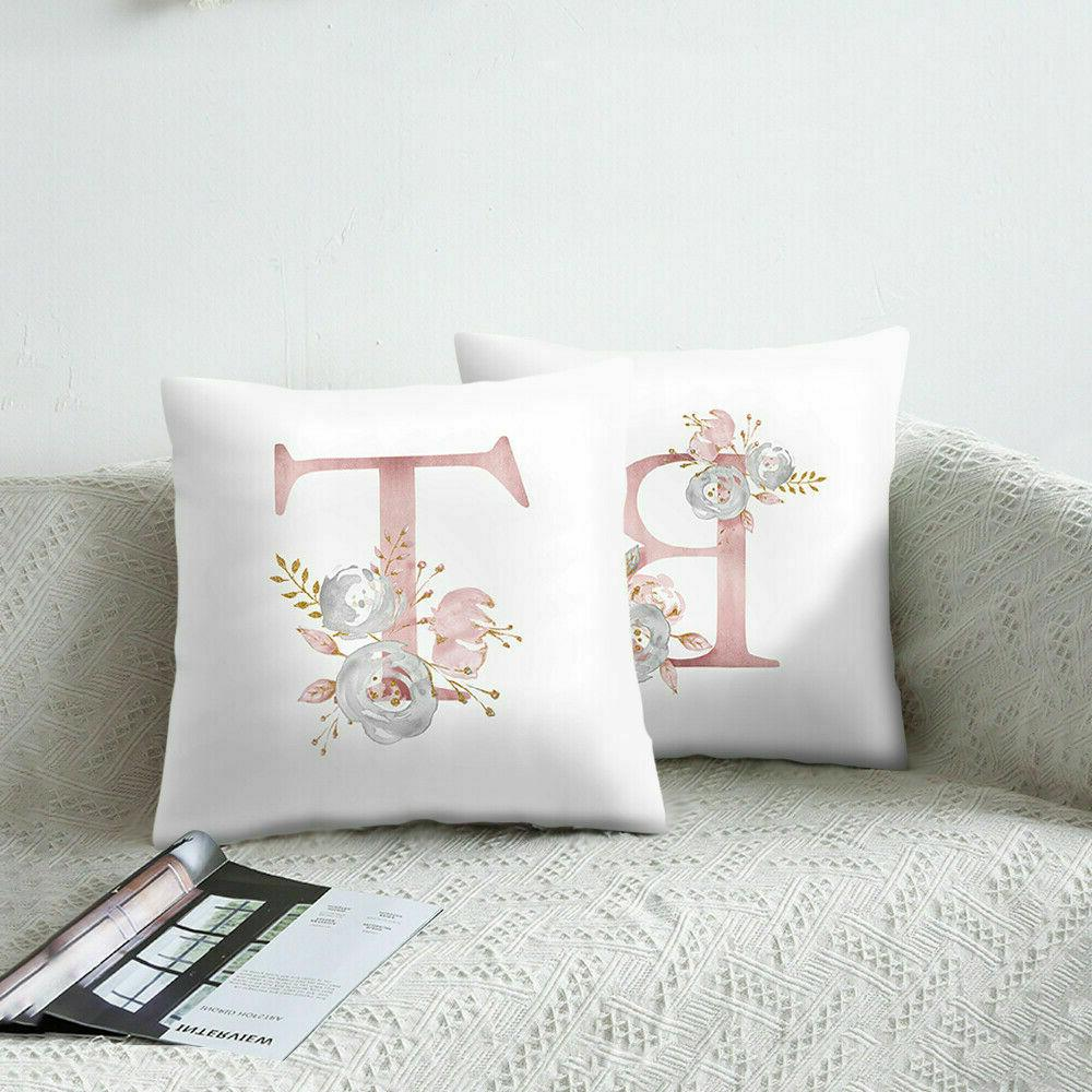 Pink Letter Pillow Throw Decor