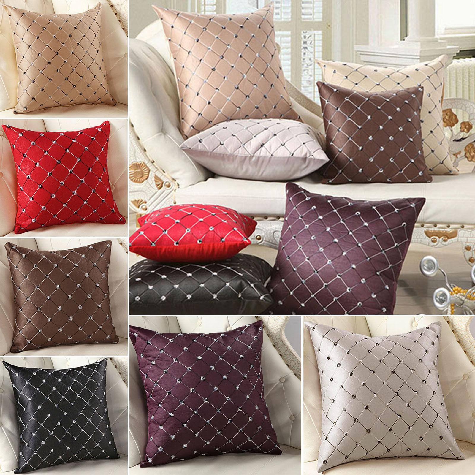 Solid Cushion Cover Home Bedroom