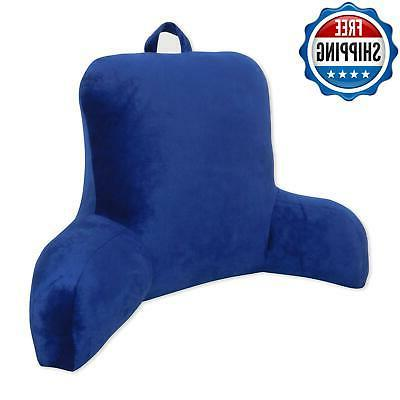Plush Cushion Reading Rest Pillow Backrest Back Arm Lounger
