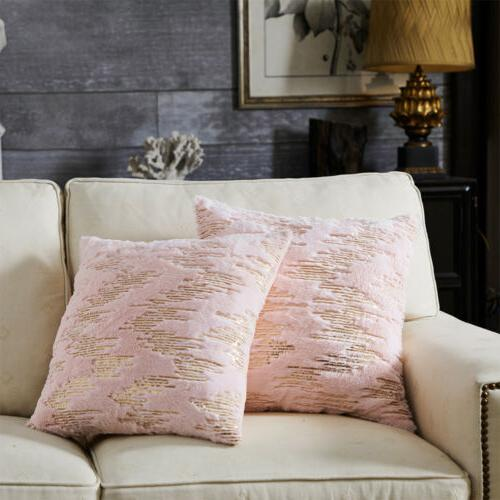 Throw Pillow Velvet Soft Sequin Sofa Case