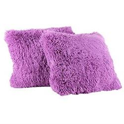 Sweet Home Collection 2Pk Plush pillow Faux Fur - Soft and C