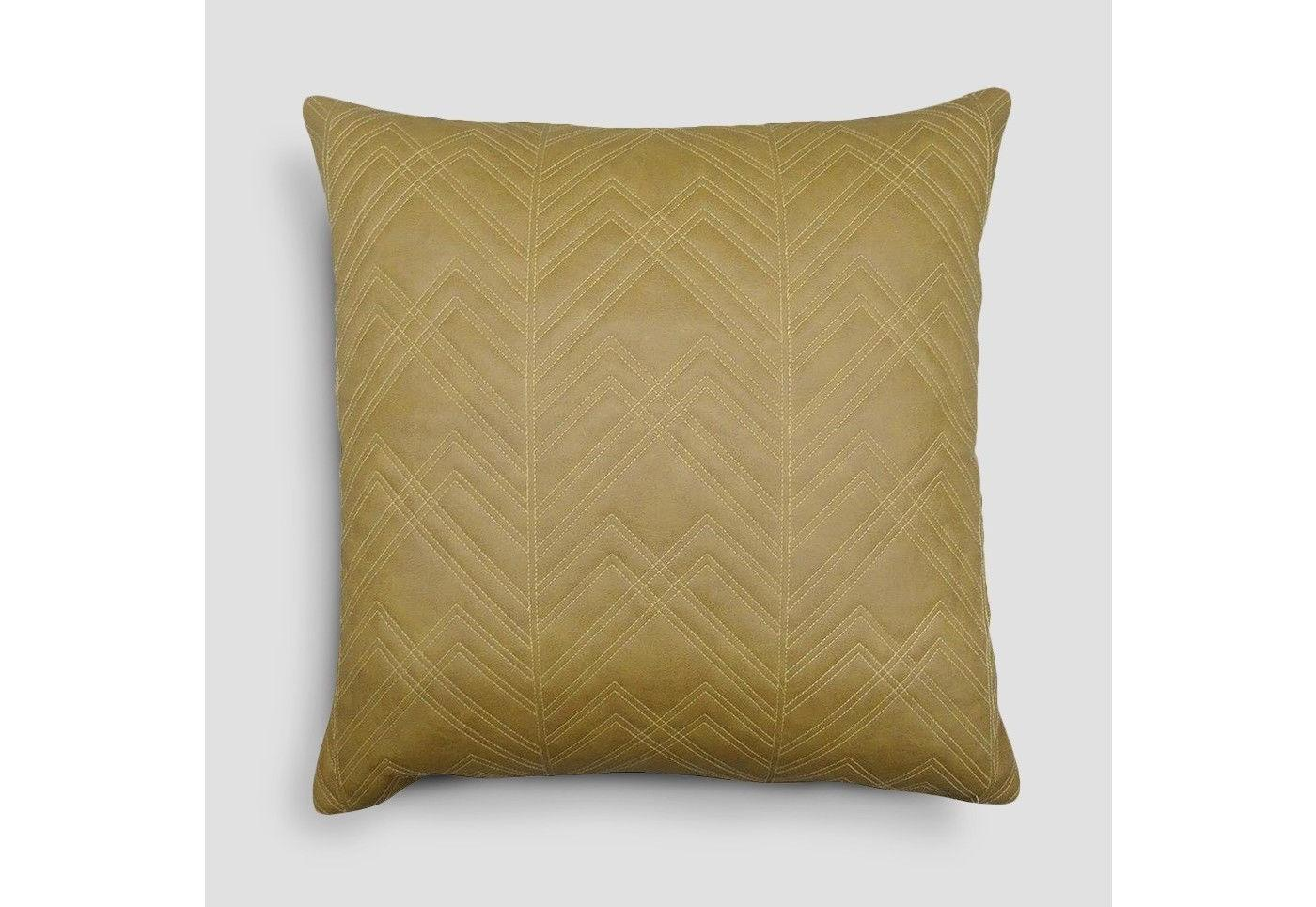Threshold - Quilted Faux Leather Throw Pillow - Brown - 18""