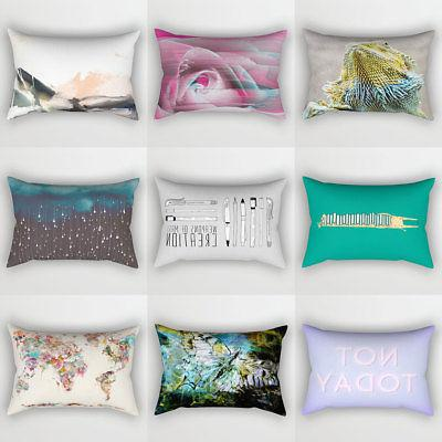 Rectangle Throw Pillow Cushions Cover Home Decor