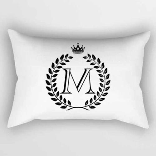 Rectangle Alphabet Letter Sided Printed Cushion