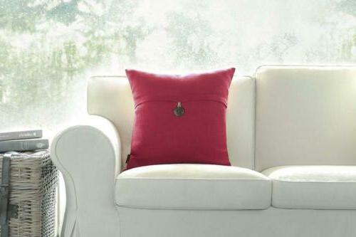Phantoscope Red Button Decorative Case Cushion Cover