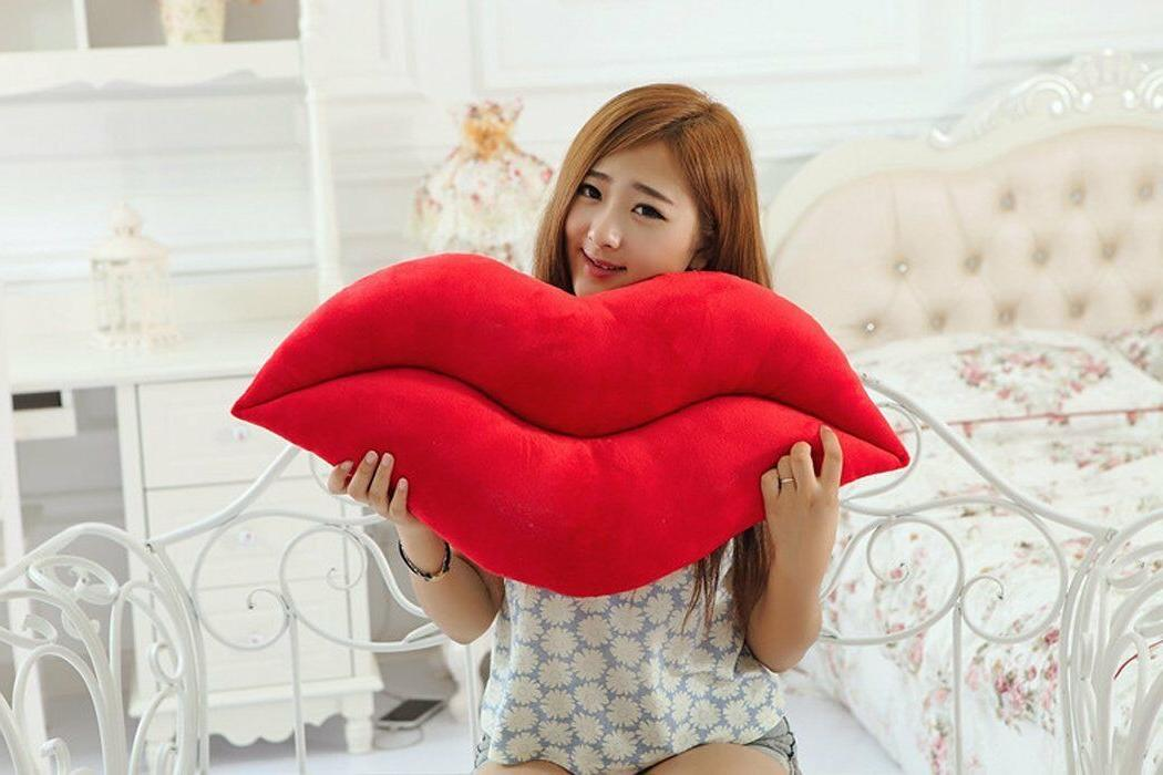 Red Plush Pillow Shaped