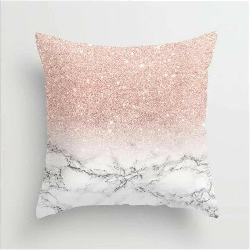 Floral Square Cover Pillow Bedroom Soft Throw Waist