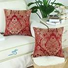 Set 2 Red Throw Pillow Floral 18x18 Cases Covers Pillows Liv