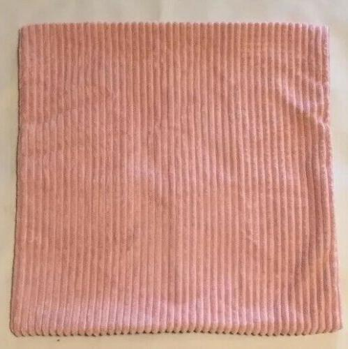 """Set 2, Striped Decorative Covers x 20"""" Pink,"""