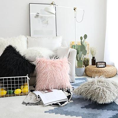 HOME BRILLIANT Set of 2 Faux Fur Throw