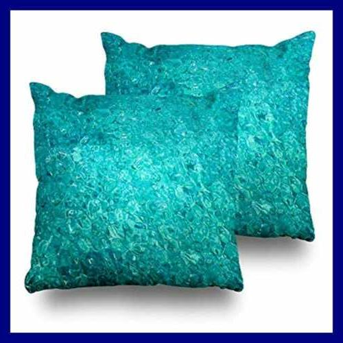 set of 2 decorative pillow covers 18x18