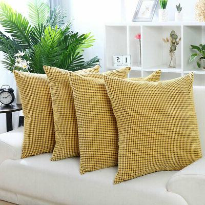 Set of Pillow Cases Cushion Sofa Bed