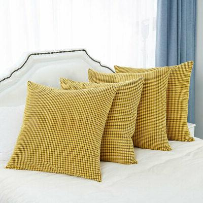 Set 4 Throw Pillow Cover Sofa Bed