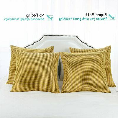 Set Pillow Cushion Covers Home Sofa Bed