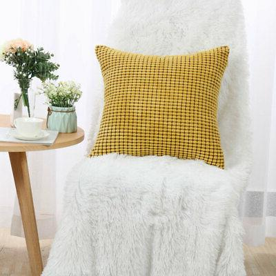 Set of 4 Pillow Cushion Decor Sofa Bed