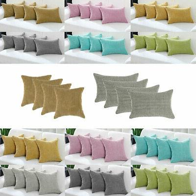 set of 4 throw pillow cases cover
