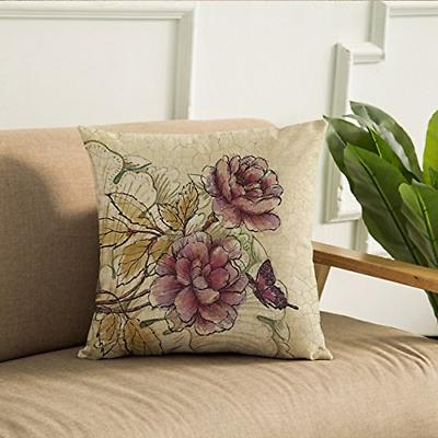 WOMHOPE of Vintage Flower Pillow Covers 18 x