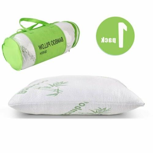 Shredded Memory Foam Pillow With Bamboo Cover Coop Home Good
