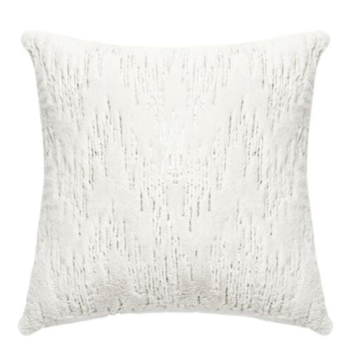 Soft Plush Throw Pillow Stripe Sequins Cushion