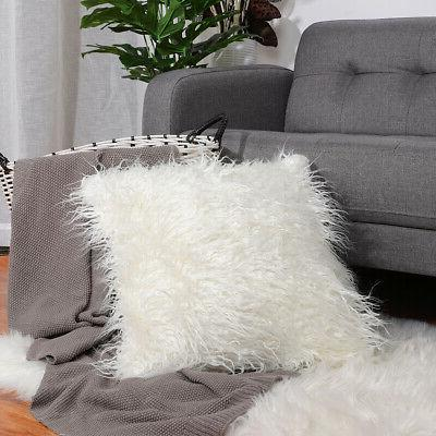Soft Fur Square Throw Cover Bed
