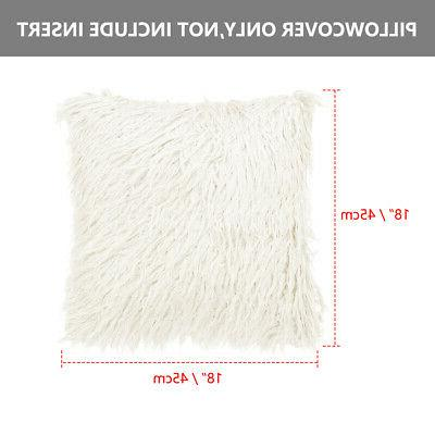 Soft Shaggy Faux Fur Cover for Sofa Bed