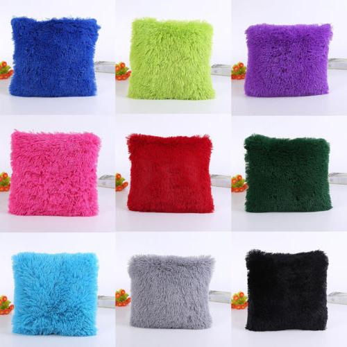 Soft Square Case Sofa Waist Throw Cushion Cover Home Decoration