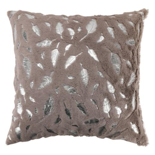 Soft Pillow Case Fur Printing Couch Square Covers