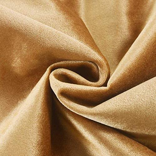 HOME BRILLIANT Spring Luxury Velvet Pillow for Room Wedding Lounge Gold