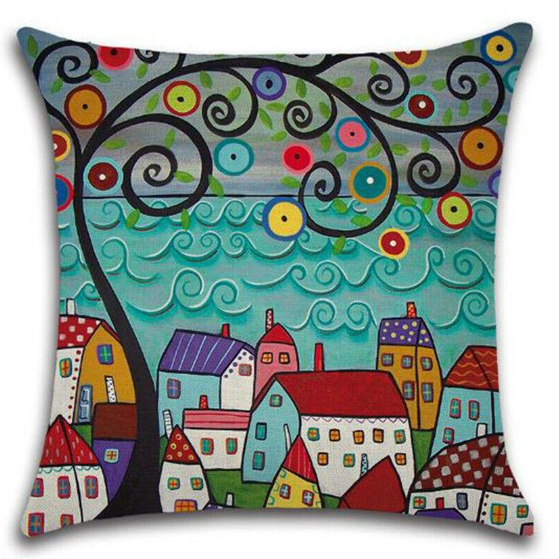 Square Colorful Throw Pillow Sofa Couch Bedroom Decor