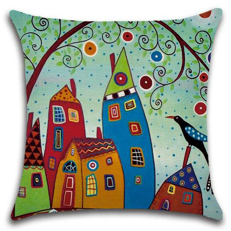 Square Colorful Pillow Throw Pillow Sofa Car Couch Bedroom Comfort Decor