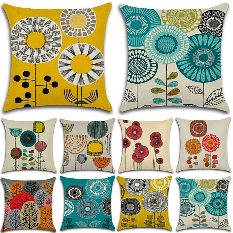 """Square Floral Pillow Cushion Cover Home 18x18"""""""