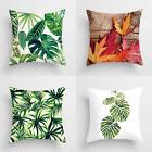 Square Sofa Cover Tropical Plant Throw Office Pillow Case Ro