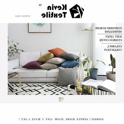 Kevin Textile Lined Linen Solid Cushion Pillow