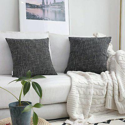 star lined linen soft solid throw cushion