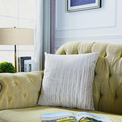 """Striped Velvet Solid Thickened Throw Sofa 18x18"""""""